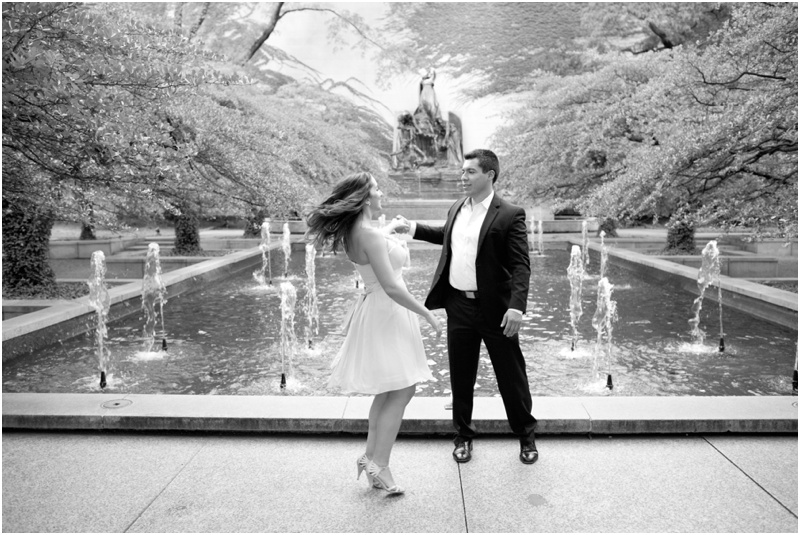 Romantic Downtown Chicago Engagement
