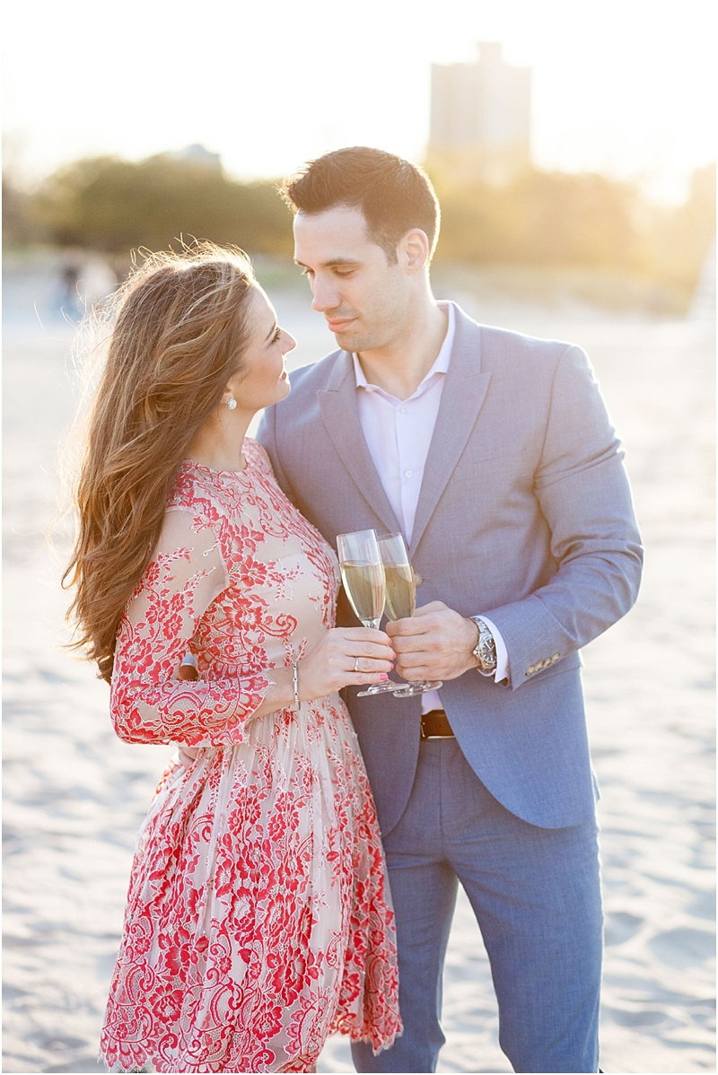 North Avenue Beach Engagement - Natalie Probst Photography