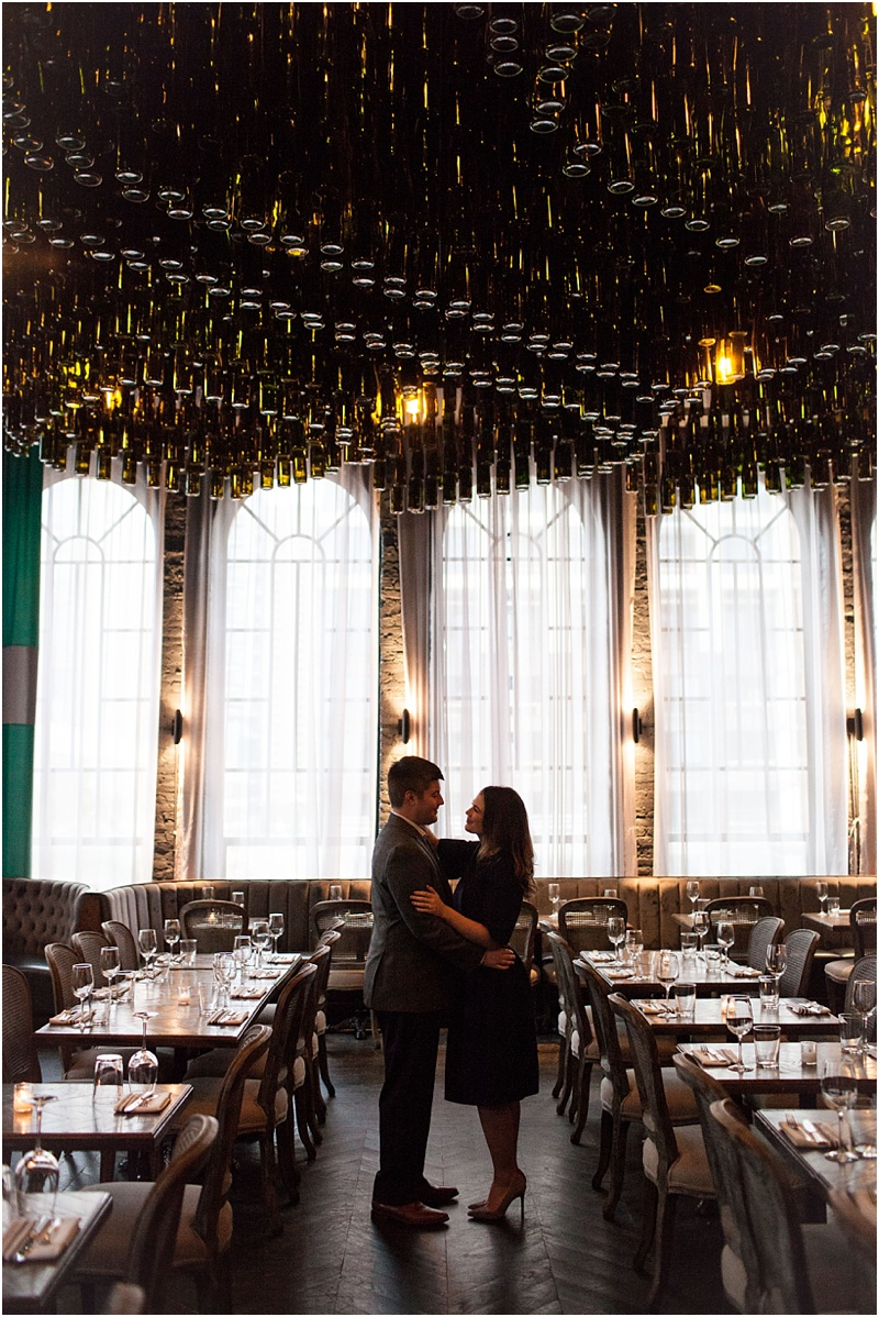 Chicago Restaurant Engagement Photos - Natalie Probst Photography